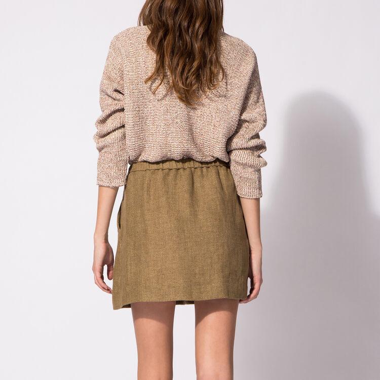 Short fancy knit jumper : Copy of Sale color