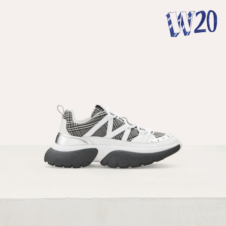 W20 Urban plaid sneakers : Shoes color Multico