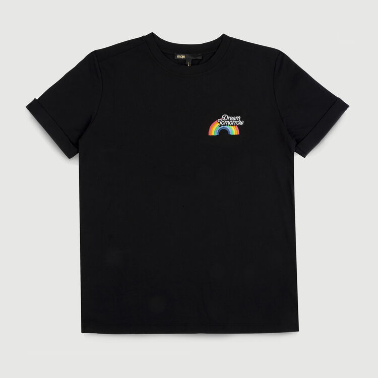 Cotton graphic t-shirt : Tops & T-Shirts color Black 210
