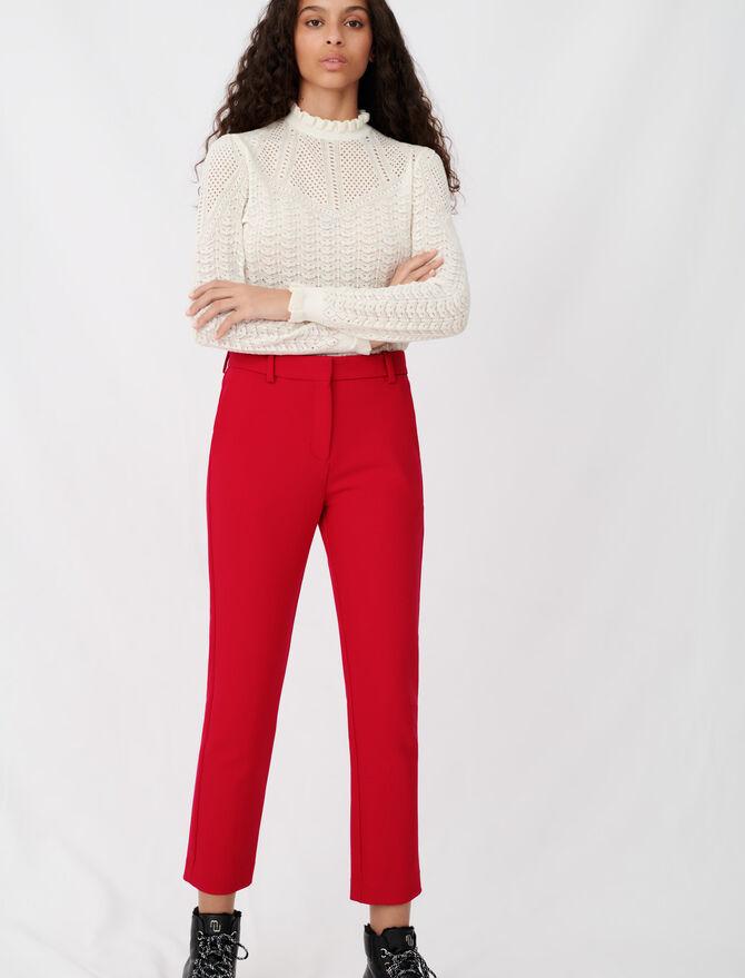 Straight-leg pants -  - MAJE