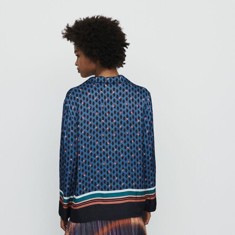 Pajama style shirt with monogram print : Tops & T-Shirts color Printed