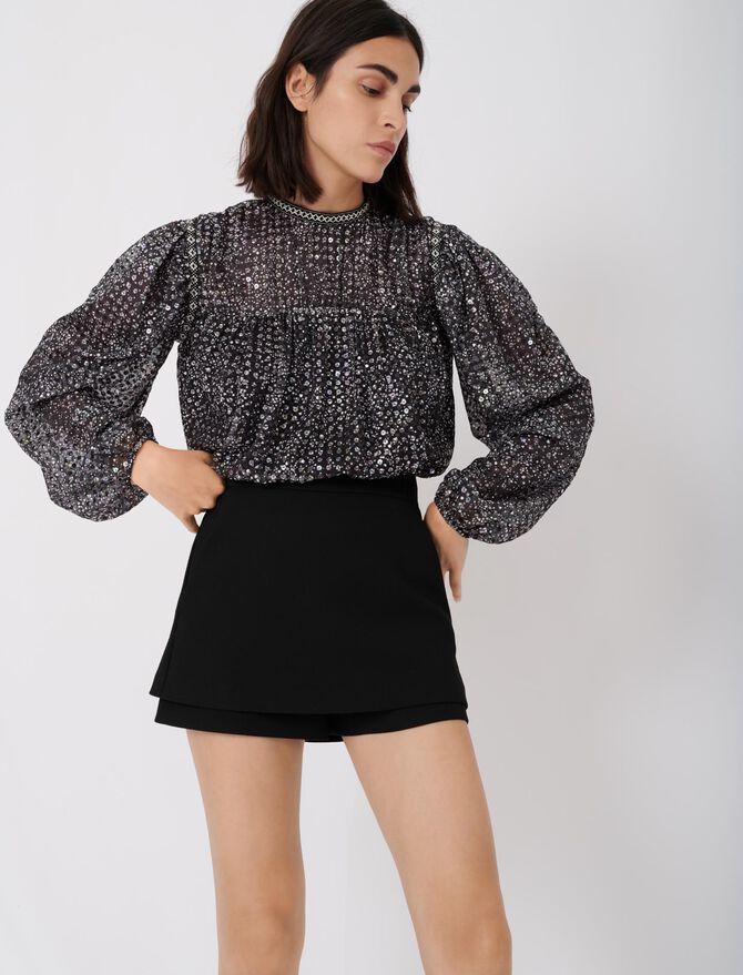 Crepe layered skort - Skirts & Shorts - MAJE