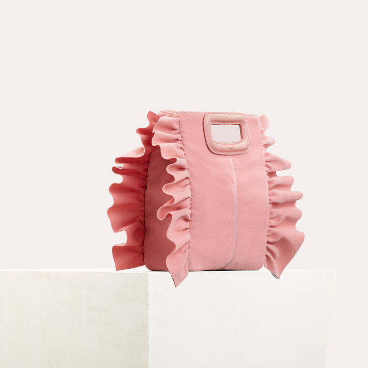 Frilled M bag : All bags color Pink