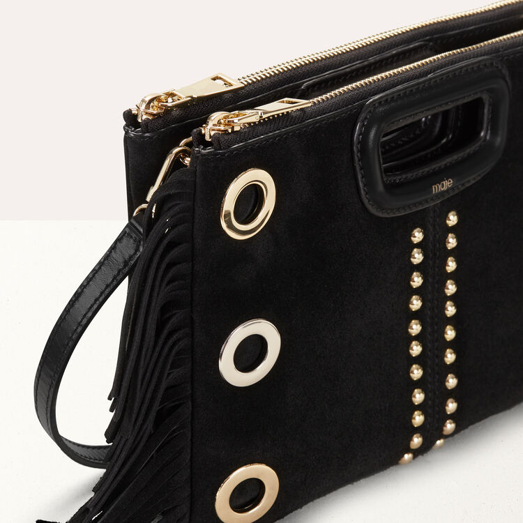 M Duo clutch in suede : M Duo color Black 210