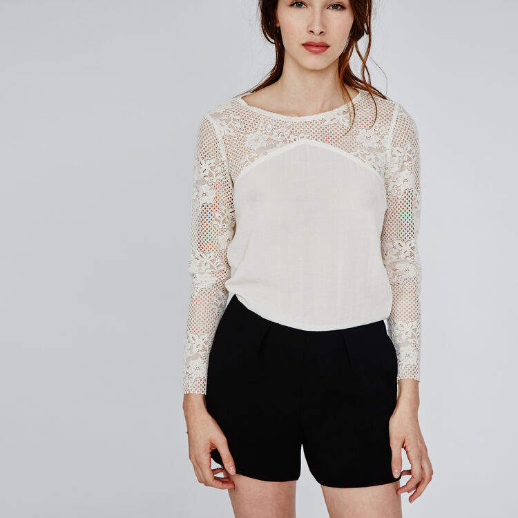 Two-tone lace playsuit : Copy of Sale color