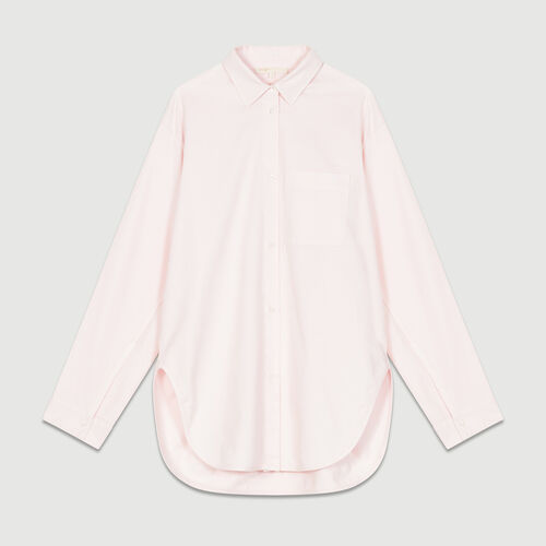 Oversized denim shirt : Tops & Shirts color Pale Pink