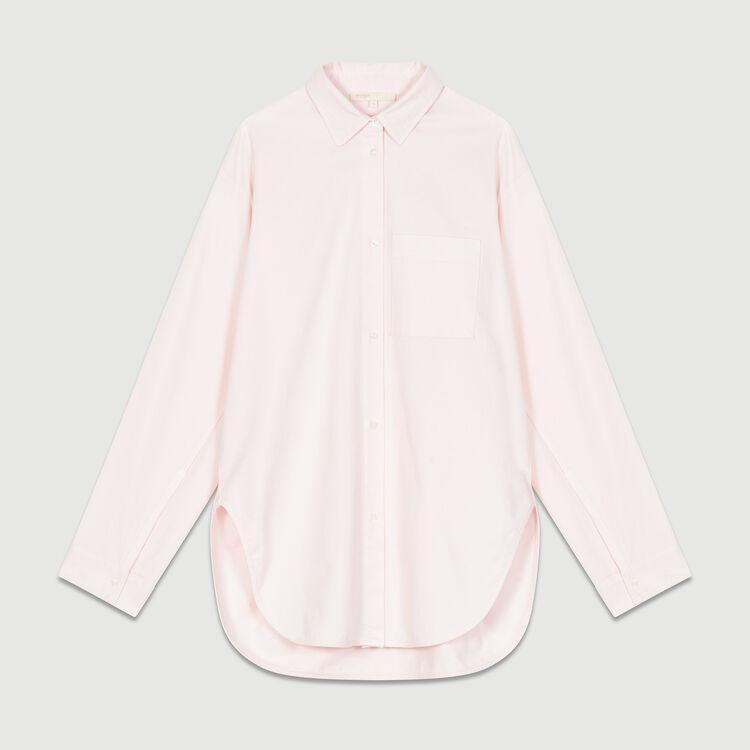Oversized denim shirt : Tops & Shirts color Pale Pink