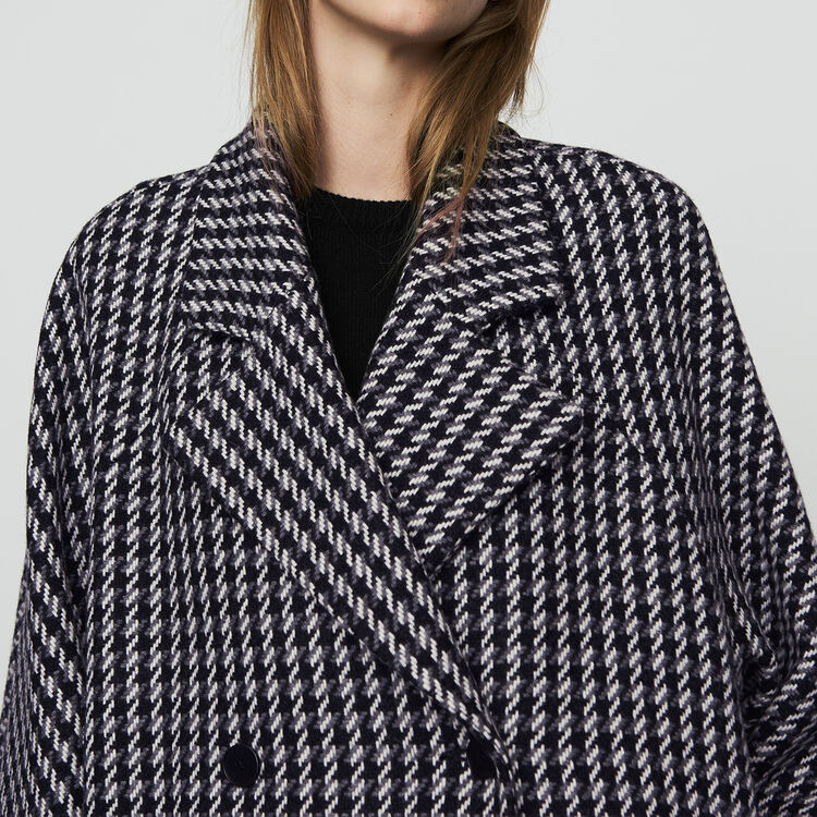 Oversize coat with double button closure : Coats & Jackets color Jacquard