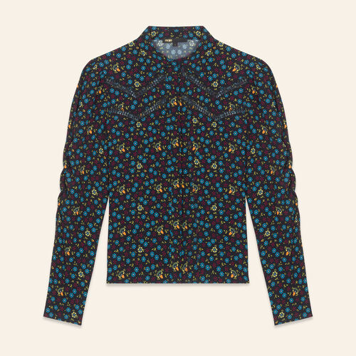 Floral-print blouse - Tops & T-Shirts - MAJE