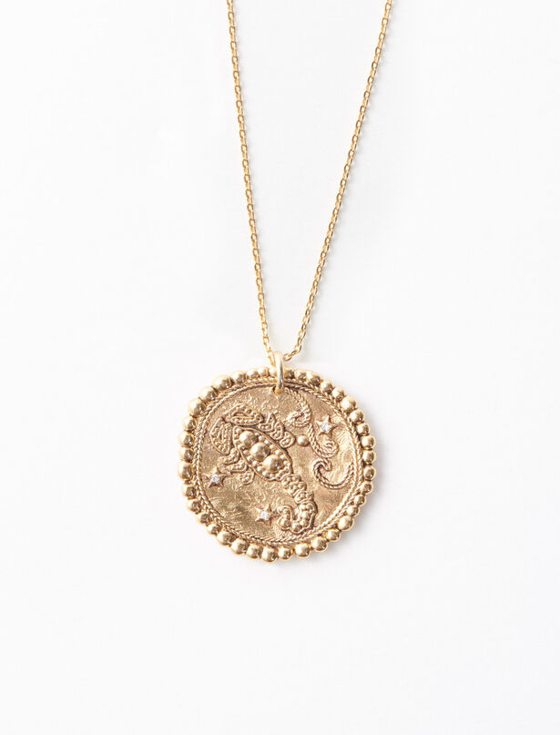 [NEW] 마쥬 '전갈자리'  12 별자리 목걸이 MAJE Scorpio zodiac sign necklace,Old Brass