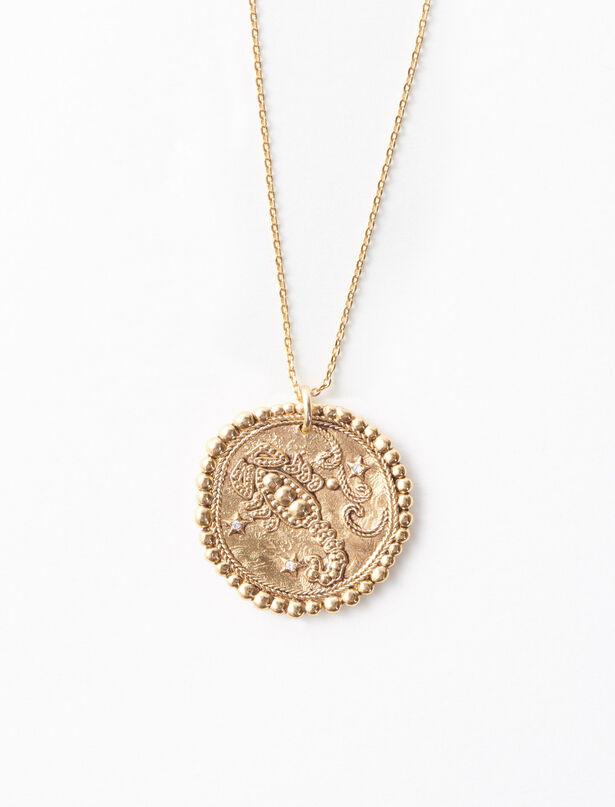 마쥬 MAJE Scorpio zodiac sign necklace,Old Brass