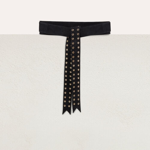 Belt with eyeslets : Belts color Black 210