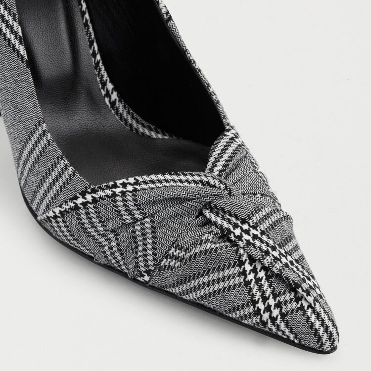 Draped pumps in Prince of Wales plaid : Shoes color CARREAUX