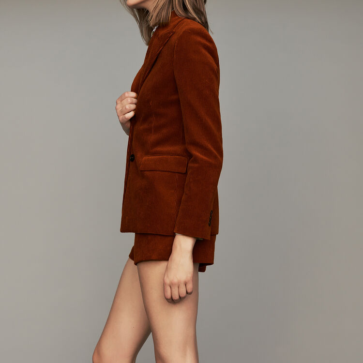 Corduroy suit jacket : Coats & Jackets color Caramel