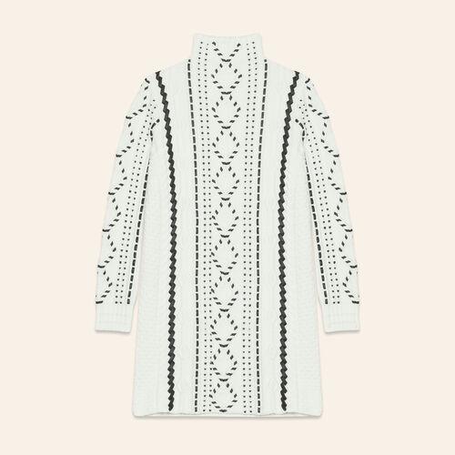Cable knit dress : Dresses color Ecru