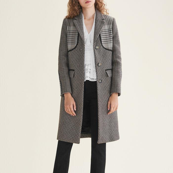 Checked coat : Coats & Jackets color Jacquard