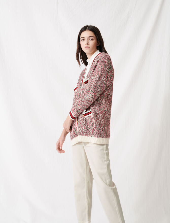 Fancy knit cardigan - Sweaters - MAJE