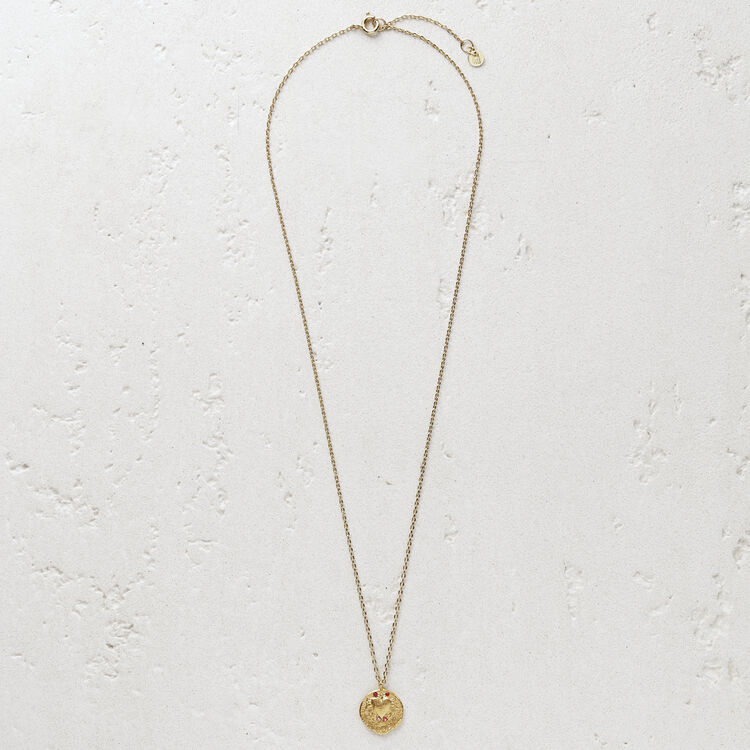 """Necklace """"Mon coeur"""" in gold plated : The Essentials color GOLD"""