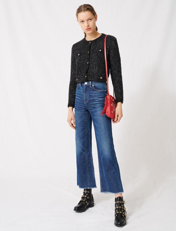 High-waisted wide-leg jeans - Pants & Jeans - MAJE