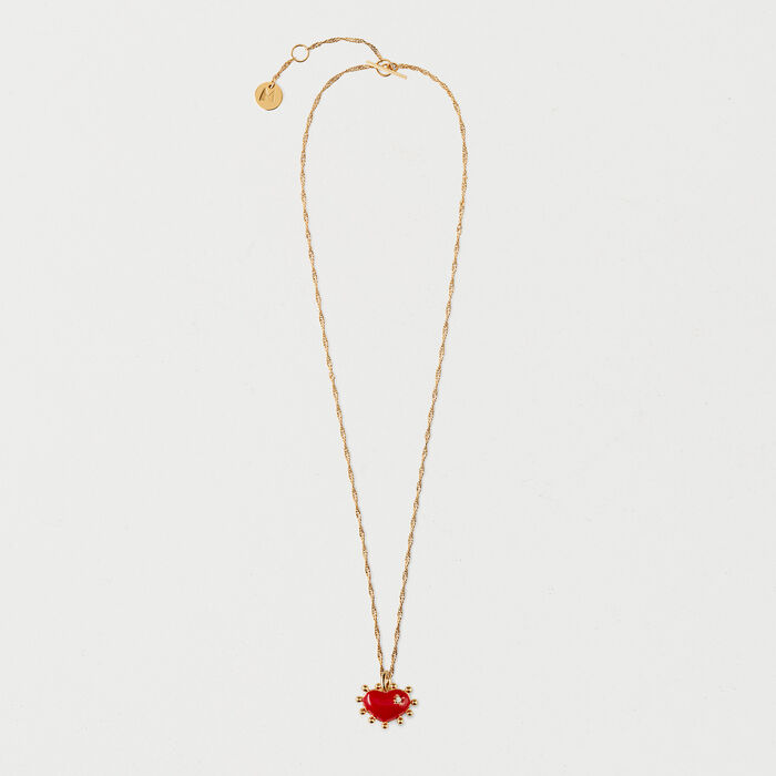 Heart necklace : Jewelry color GOLD