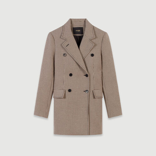 Plaid jacket-like coat : Coats & Jackets color Camel