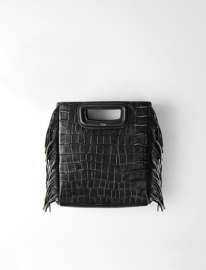 Crocodile-effect leather M bag -  - MAJE