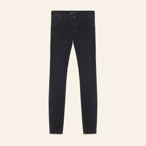 Stretch cotton skinny jeans - Pants & Jeans - MAJE