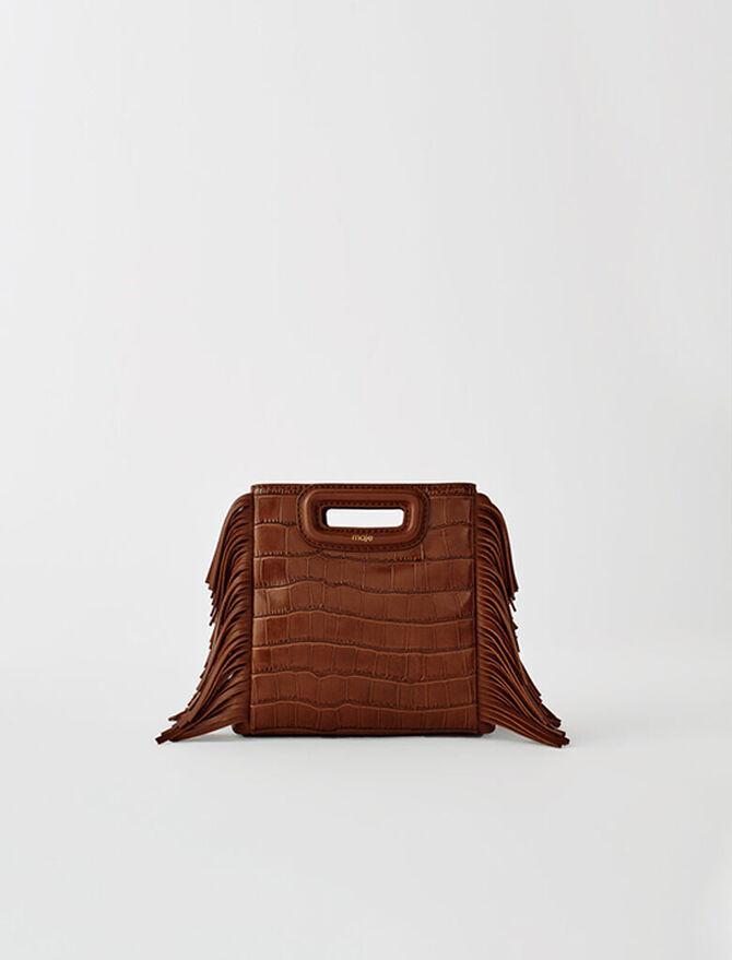 Crocodile-effect leather Mini M bag - Mini Bags - MAJE