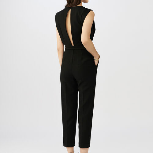 Sleeveless jumpsuit : Jumpsuits color Black 210