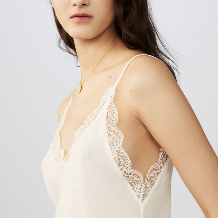 Crepe camisole with lace