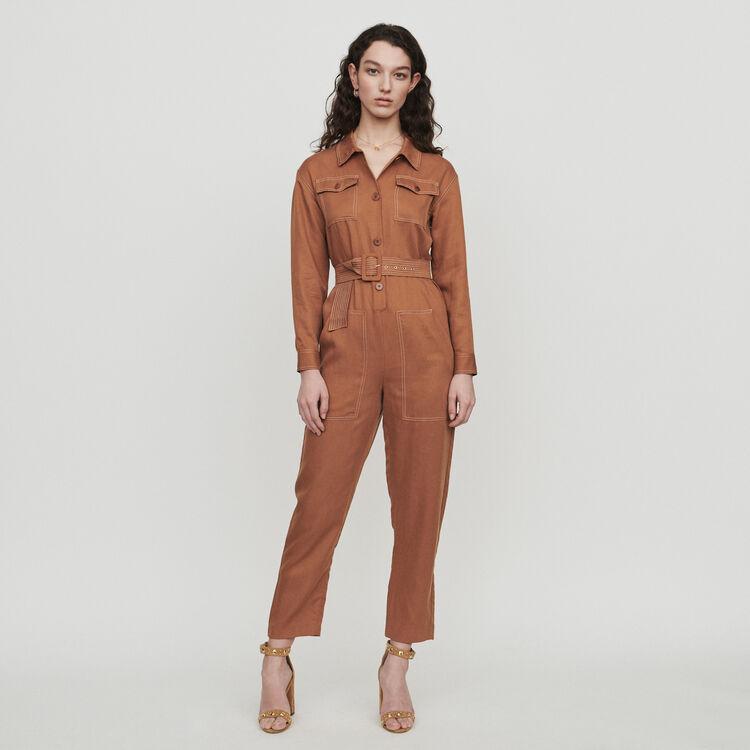 Shirt jumper : Jumpsuits & Rompers color Terracota