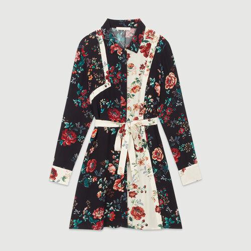 6f153d828b8 ROANE Long organza-style shirt dress - Dresses - Maje.com