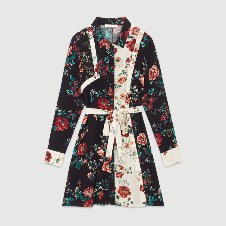 Floral print shirt dress : Dresses color Printed