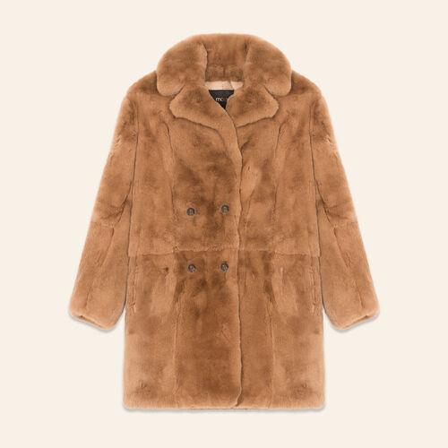 Rabbit coat : Coats & Jackets color Beige
