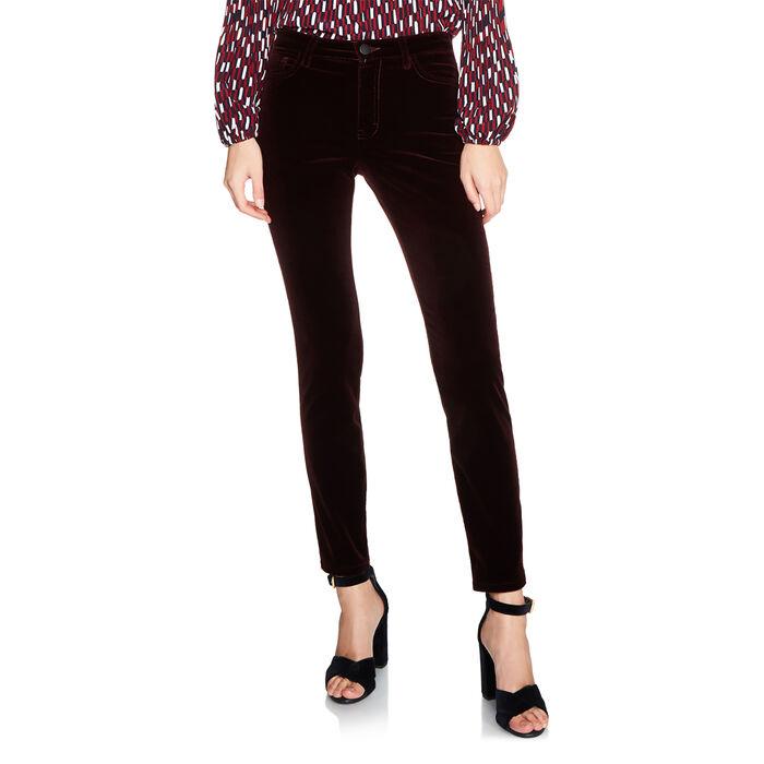 Velvet 5-pocket trouser -  - MAJE