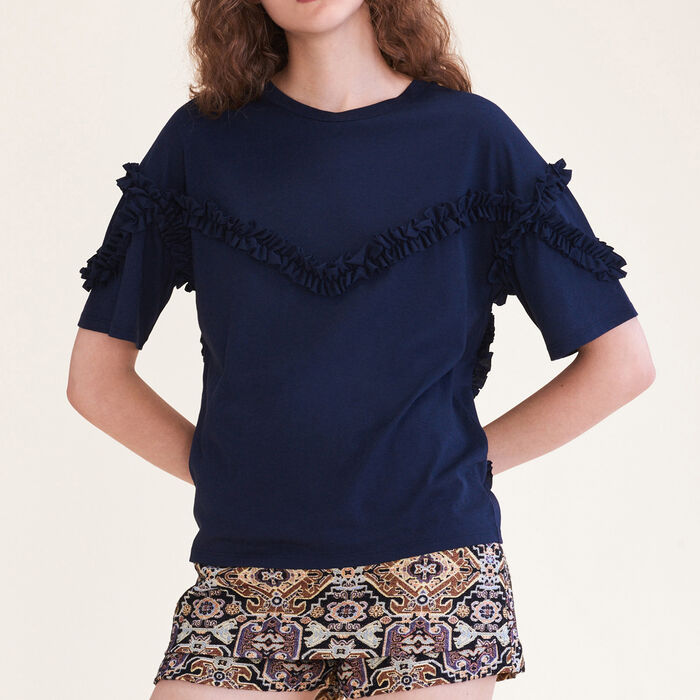 T-shirt with frill detail : null color