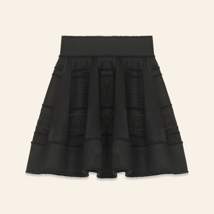 Mesh puffball skirt : null color