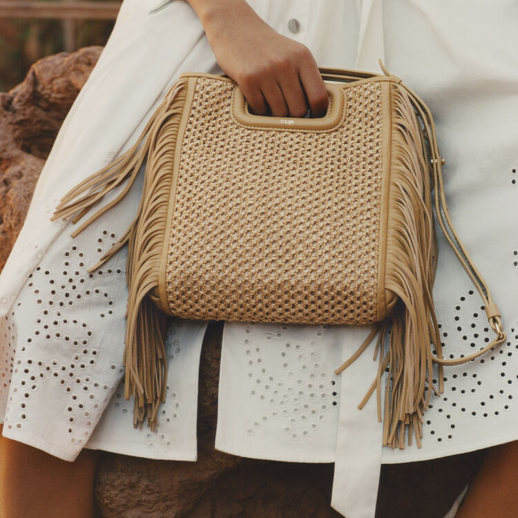 Fringed bag : Shoes & Accessories color NATUREL