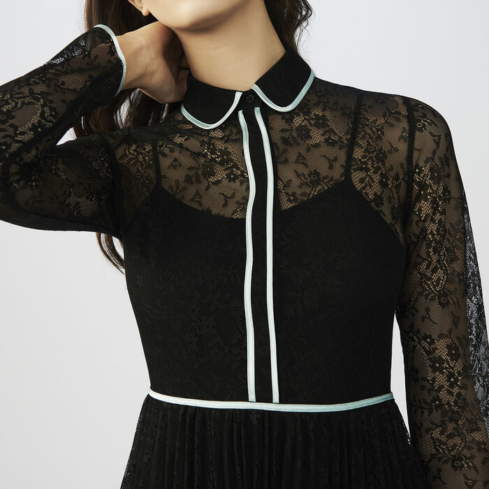 Lace skater dress : Dresses color Black 210