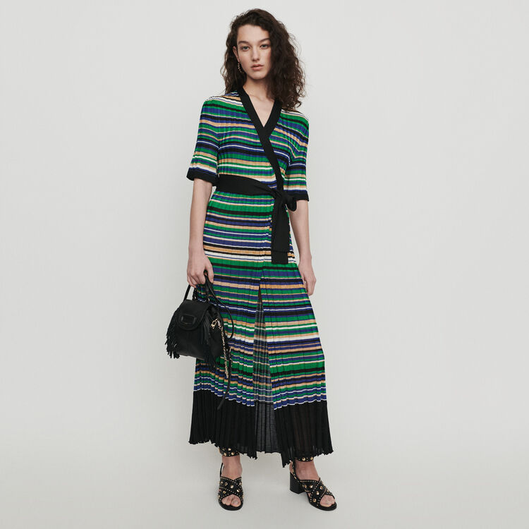 936f488586ab Long dress in striped knit