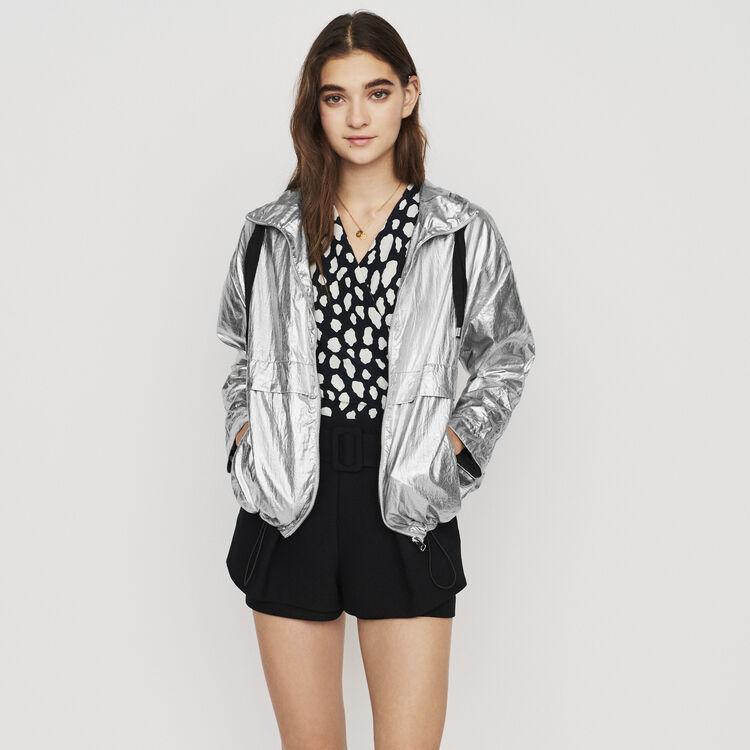 Windproof coat with hood : New in: Spring Collection color Silver