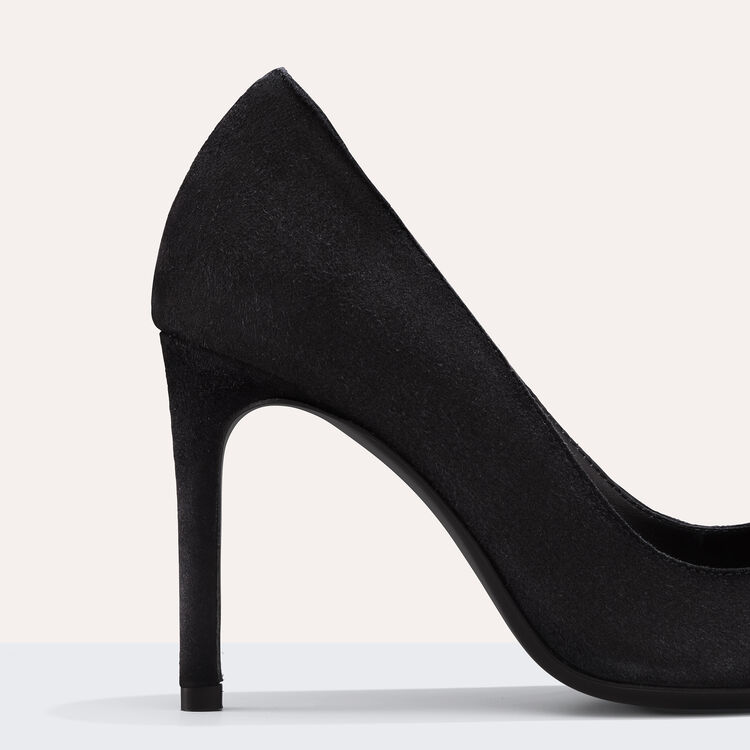 High-heeled suede court shoes : null color