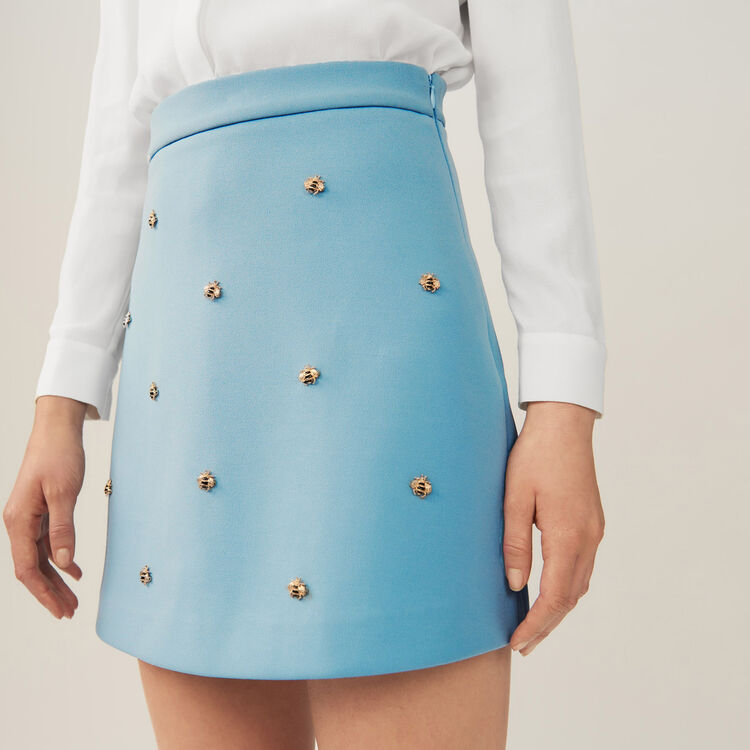 Skirt with embroidered bees : Pre-collection color Black 210