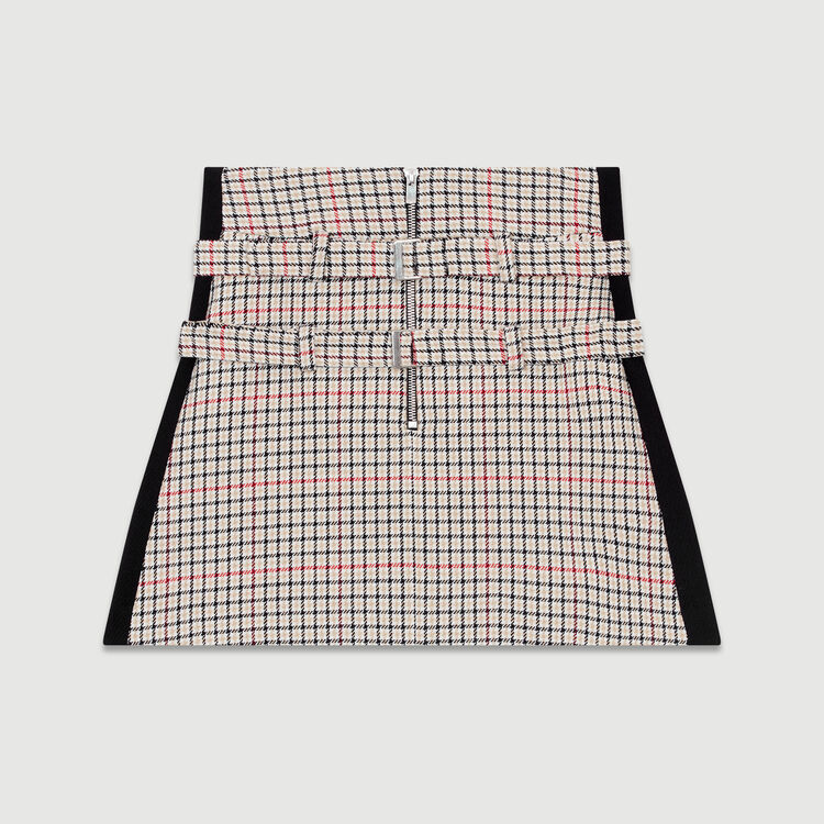 Plaid skort : Office Chic color CARREAUX