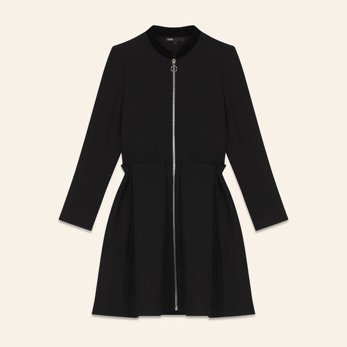 Zipped dress : Dresses color Black 210