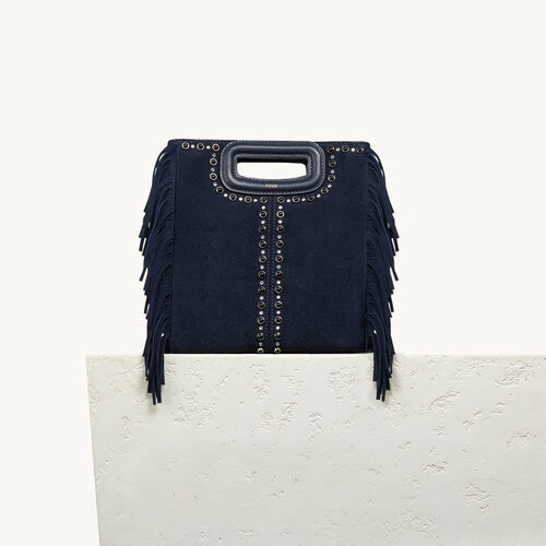 Suede bag with studs - Shoes & Accessories - MAJE