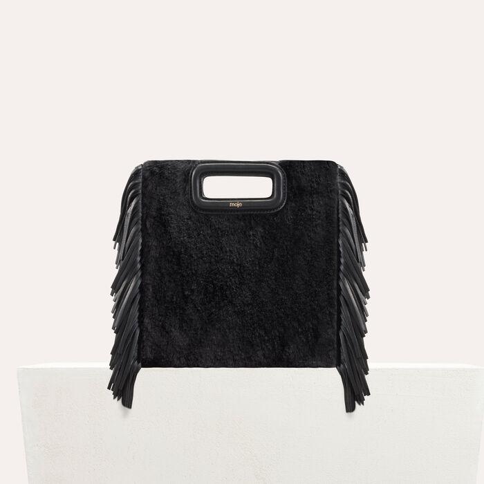 M bag in novelty fur : M Bags color Black 210