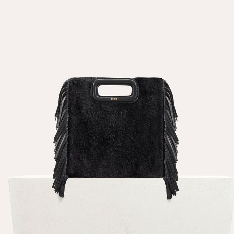 M bag in novelty fur : Bags color Black 210