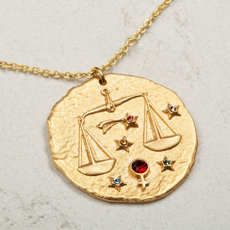 Libra zodiac sign necklace : New Collection color GOLD