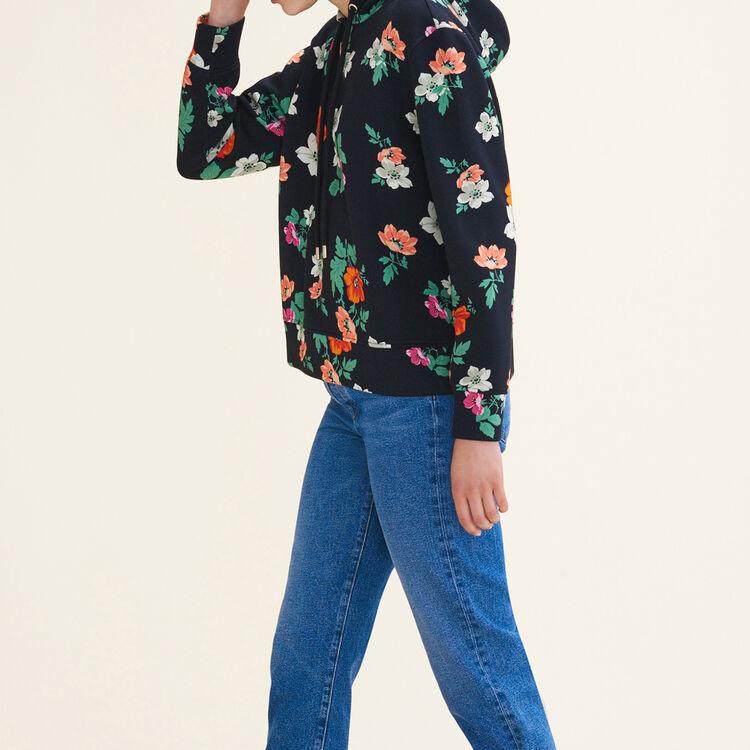 Printed hooded sweatshirt : Sweaters color PRINTED